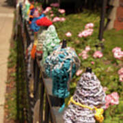 Knit Fence Protectors Art Print
