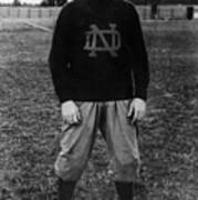 Knute Rockne, University Of Notre Dame Art Print