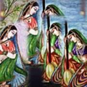 Krishna Prayer  Art Print