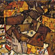 Krumau - Crescent Of Houses Art Print