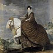 La Reina Isabel De Borbn A Caballo Diego Rodriguez De Silva Y Velazquez Art Print