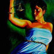 Lady Justice Art Print by Laura Pierre-Louis
