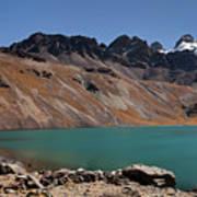 Laguna Chiar Khota In Condoriri Mountains Art Print