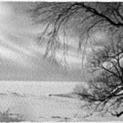 Lake Erie In Winter Art Print
