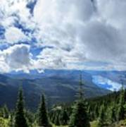 Lake Mcdonald From Mt Brown Trail - Glacier National Park Art Print