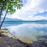 Lake Mcdonald In Glacier National Park Montanaa Art Print