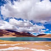 Lake Meniques In Chile Art Print