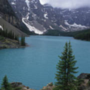 Lake Moraine In Canada Art Print