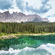 Lake Of Carezza - Italy Art Print