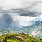 Landscape Around Kasi In North Laos Art Print