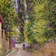 Landscape Near Louveciennes Art Print