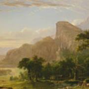 Landscape Scene From Thanatopsis Art Print