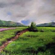 Landscape Sketching Art Print