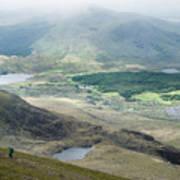 Landscape View Of Llyn Cwellyn And Moel Cynghorion In Snowdonia  Art Print