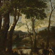 Landscape With A Cowherd Art Print
