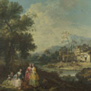 Landscape With A Group Of Figures Art Print