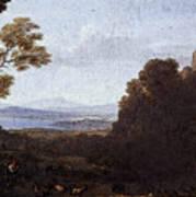 Landscape With Apollo And Mercury  Art Print