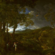 Landscape With Elijah And The Angel Art Print