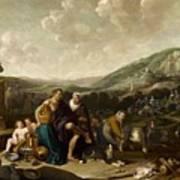 Landscape With Jacob And Rachel Art Print