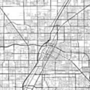 Las Vegas Nevada Usa Light Map Art Print
