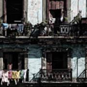 Laundry Day In Havana Art Print