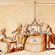 Lavoisiers Respiration Experiments Art Print