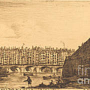 Le Pont-au-change, Paris, Vers 1784 Art Print