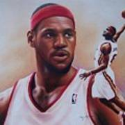 Lebron James Print by Cory McKee