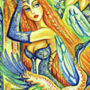 Fairy Leda And The Swan Art Print