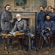 Lees Surrender, 1865 Art Print