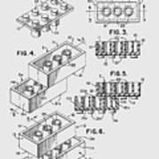 Lego Toy Building Brick Patent  Art Print