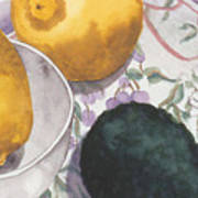 Lemons And Avocado Still-life Art Print