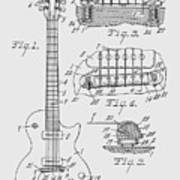 Les Paul  Guitar Patent From 1955 Art Print