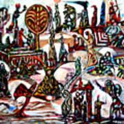 Life In Palestine Art Print