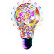 Light Bulb Design By Cogs And Gears  Art Print