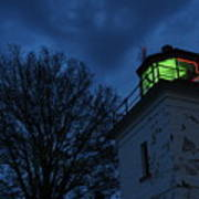 Lighthouse At Night Art Print