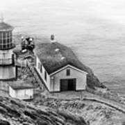 Lighthouse On The Point Art Print