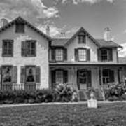 Lincoln Cottage In Black And White Art Print