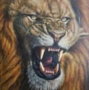 Lion Roar Art Print