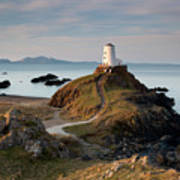 Twr Mawr Lighthouse On Llanddwyn Island Art Print