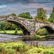 Llanrwst Bridge And Tea Room Art Print