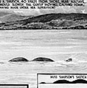 Loch Ness Monster, 1934 Art Print