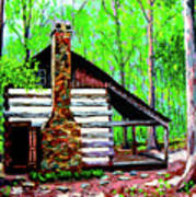 Log Cabin V Art Print