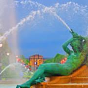 Logan Circle Fountain 1 Art Print