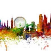 London England Skyline Panoramic Art Print