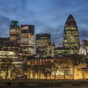 London Financial District Art Print