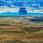 Lone Rock In Lake Powell Utah Art Print