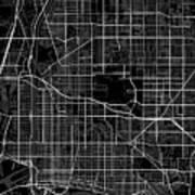 Long Beach California Usa Dark Map Art Print