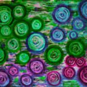 Looking Down On Umbrellas-trois Art Print by Brenda Higginson