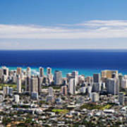 Lookout View Of Honolulu Art Print